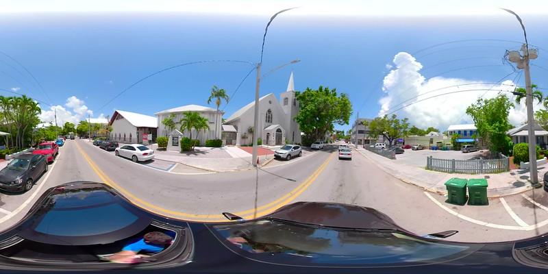 Motion 360 video Key West Florida equirectangular spherical vr