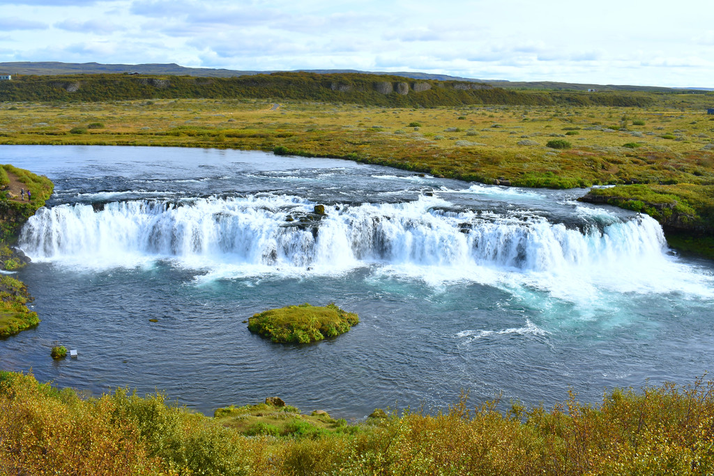 Faxi waterfall in Iceland along Golden Circle Road Trip