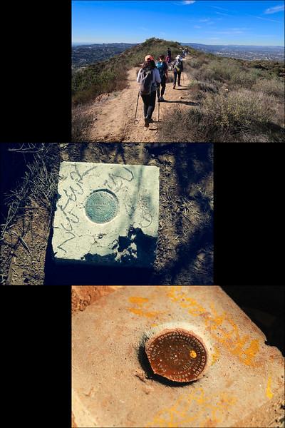 2 survey markers on Cahuenga Peak