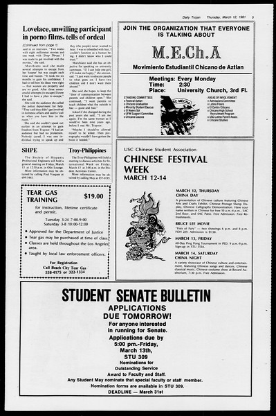 Daily Trojan, Vol. 90, No. 25, March 12, 1981