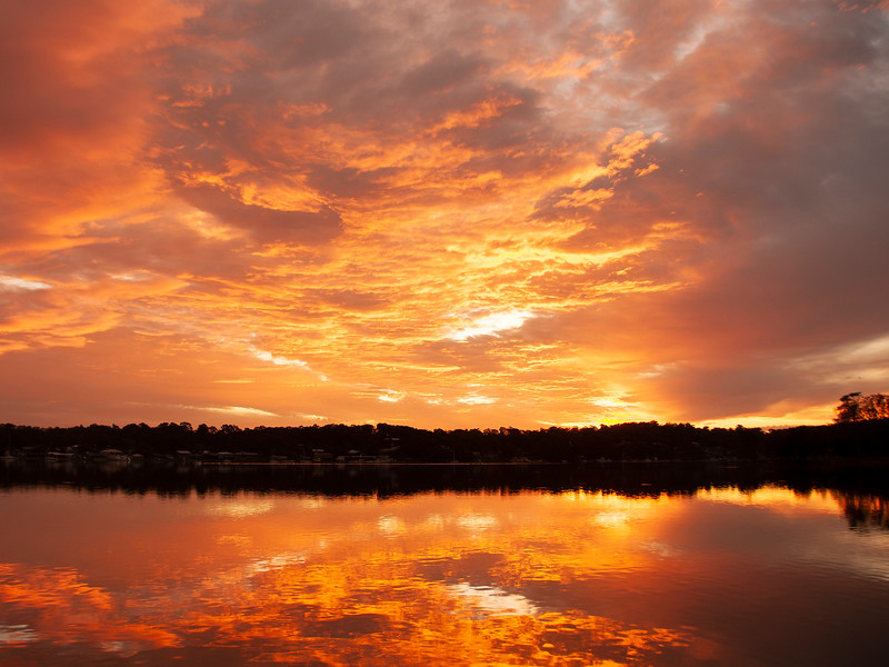 Orange cloud Sunrise Seascape Australia