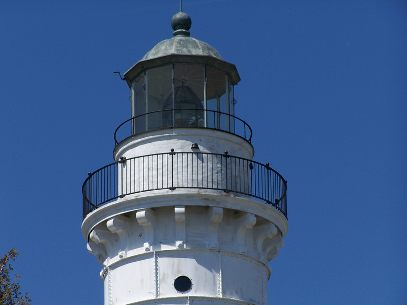 Cana Island's Third Order Fresnel lens is now illuminated by a 500-watt electric lamp.