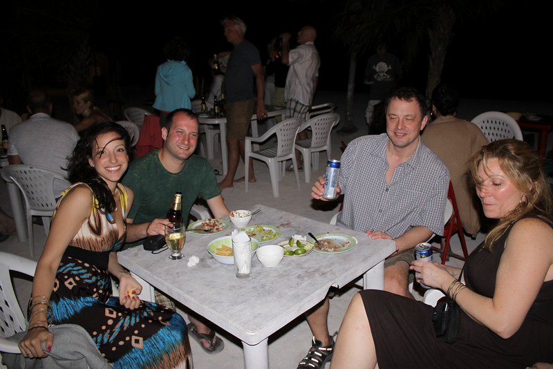 beach party at Soliman Bay with Tony and Beth