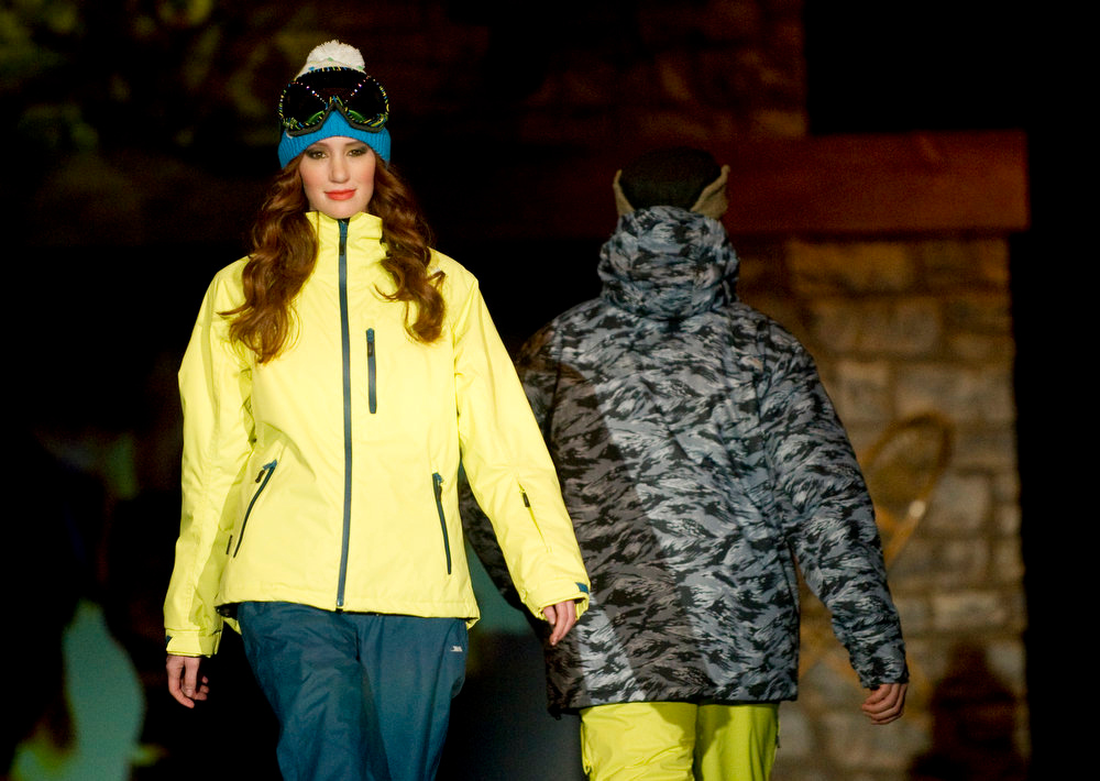 Description of . Trespass  snow gear, as the SIA Snow Show hosted its 2013 Snow Fashion & Trends Show at the Colorado Convention Center  in downtown Denver  on Wednesday, January 30, 2013.  (Photo By Cyrus McCrimmon / The Denver Post)