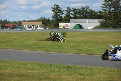 Bike wreck Sat MOTO America NJMP 2017