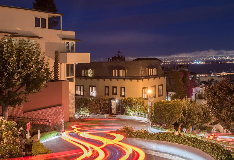 Lombard Wiggle  Lombard Street, San Francisco