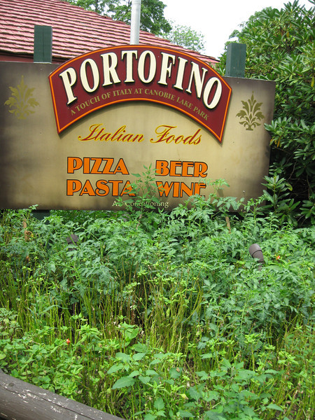 Portofino restaurant sign.