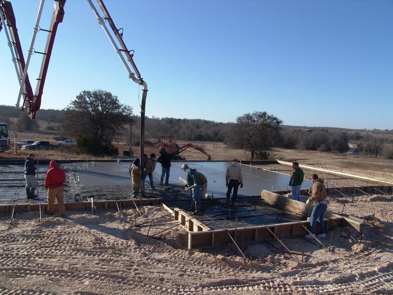 Building the barn's foundation