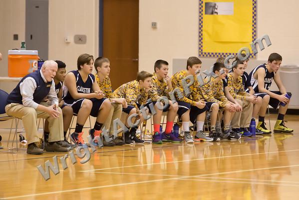 2016 01 27 Clarkston CJHS 8th Grade Boys Blue vs Gold Basketball