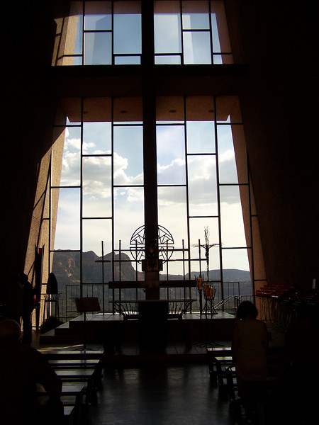 Chapel of the Holy Cross was designed by Marguerite Brunswig Staude, a pupil of Frank Lloyd Wright. Completed in 1956, the Chapel appears to rise out of the surrounding red rocks and is a favorite spot to photograph the surrounding area.