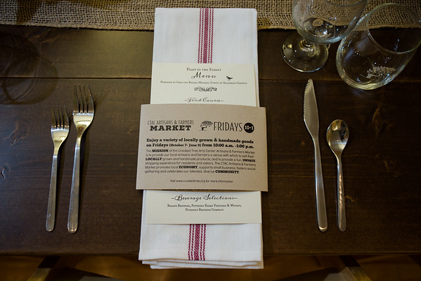 Crooked Tree Art Center Farm to Table Feast in the Street October 2016