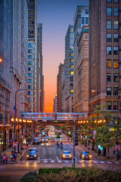 Chicago Henge - Just After Sunset