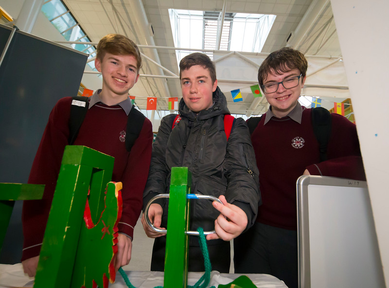 22/11/2017. Waterford Institute of Technology's (WIT) 'College Awareness Day. Pictured are Anthony O'Keeffe. Josh Ryan and Scott Bowdren of St Declans Community College, Kilmacthomas. Picture: Patrick Browne   Hundreds of secondary school students from across the South East celebrated College Awareness Week by attending Waterford Institute of Technology's (WIT) 'College Awareness Day' on Wednesday 22 November 2017. The events gave secondary school students a taste of college life and helped students of all ages to become 'college ready' by raising awareness of the benefits of going to college. There was an  hourly talk/workshop on how to become college ready (including presentations on college life), an expo area, and a chance to explore the campus. Students attended workshops on sport, electronics, sport and creative as well as presentations on college life at WIT, student supports, new courses for 2018, routes of entry and clubs and societies. They also got an overview of WIT's new common and broad entry courses for 2018.     Elaine Larkin Communications & PR Executive, Waterford Institute of Technology   Phone: +353 51 845577  Mobile: 087-7105148