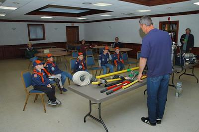 04-23-05 Den Meeting - Fire House
