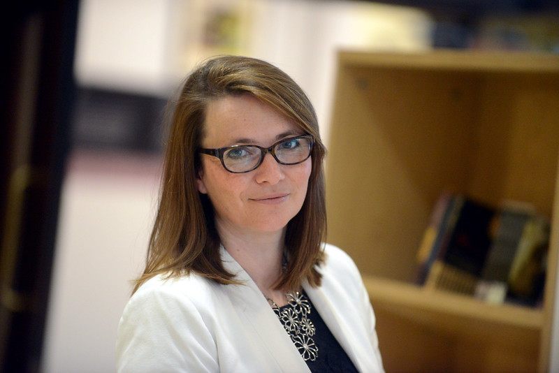Political portrait of the Welsh Liberal Democrats  leader, Kirsty Williams.