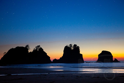 Dusk at Point of Arches, Shi Shi Beach, Olympic National Park, WA.
