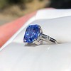 Vintage-Inspired and Contemporary 3.03ct Blue Sapphire Ring (GIA, No-Heat)) 14