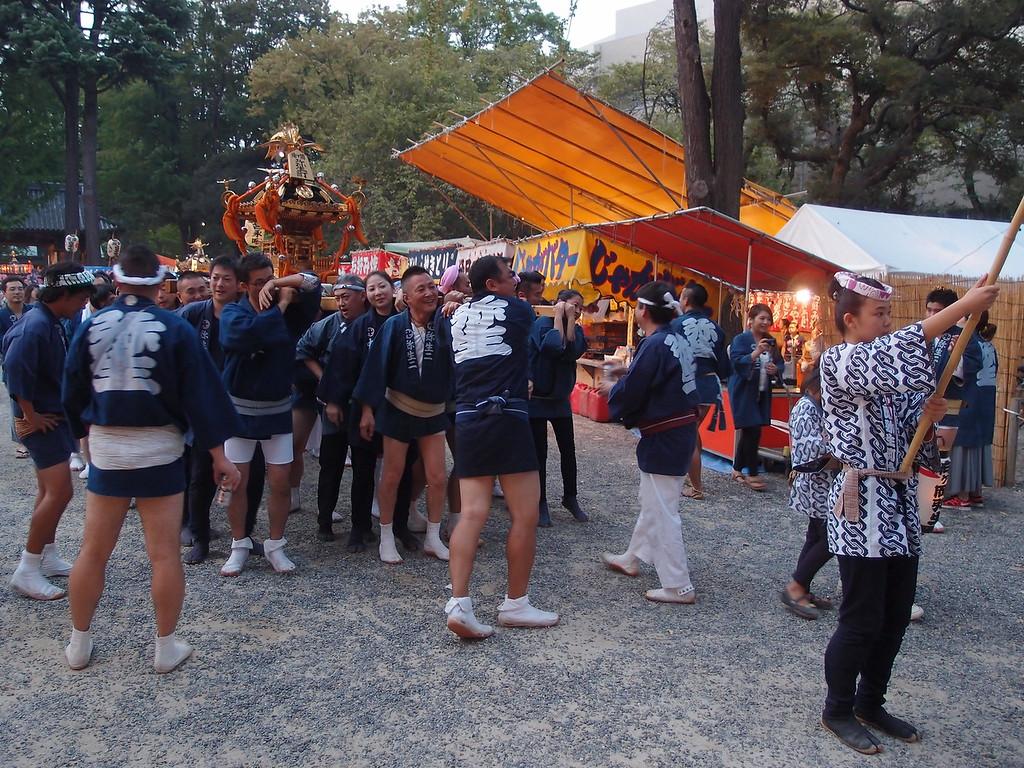 A lively scene at the Nezu Shrine Festival