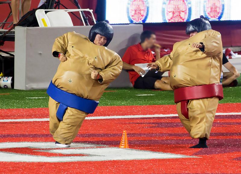 Sumo wrestler race