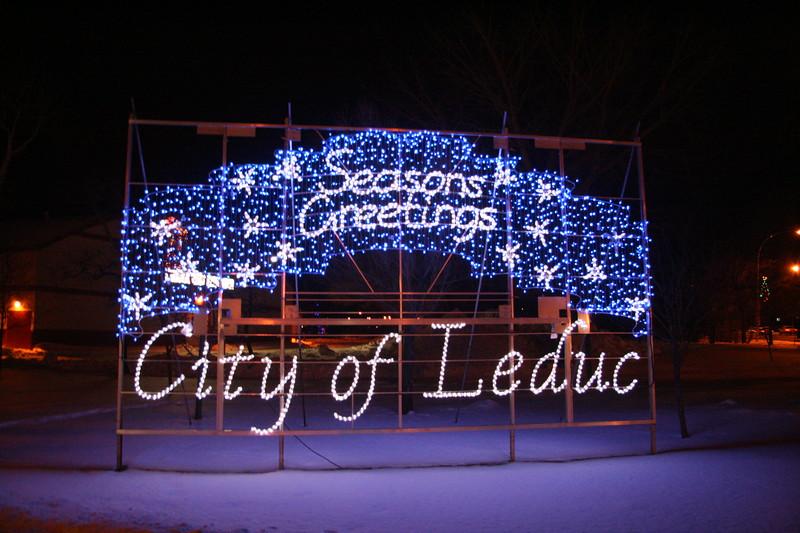 Christmas signage at Alexandra Park