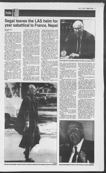 Summer Trojan, Vol. 120, No. 9, July 07, 1993