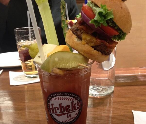 """. <p><b> Twins games will be more fun than ever this season thanks to Hrbek�s bar, which is offering an $18 Bloody Mary adult beverage that includes � </b> <p> A. A bacon cheeseburger <p> B. A dozen cocktail shrimp <p> C. A voucher that lets you bat fourth in the Twins� lineup <p><b><a href=\'http://thebiglead.com/2014/03/31/kent-hrbeks-pub-submits-its-offering-for-most-ridiculous-ballpark-food-item/\' target=\""""_blank\"""">HUH?</a></b> <p>   (Photo from Twitter)"""