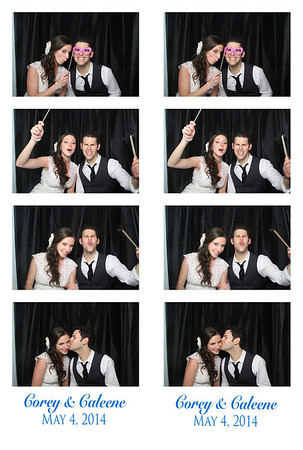 Corey and Caleene Photo Booth