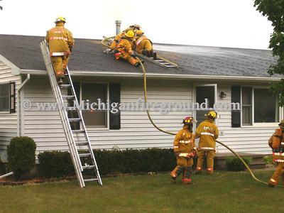 6/26/05 - Eaton Rapids Twp house fire, 11779 Plains Rd