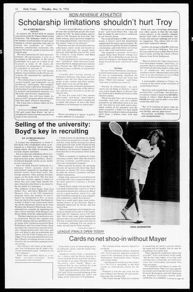 Daily Trojan, Vol. 66, No. 128, May 16, 1974