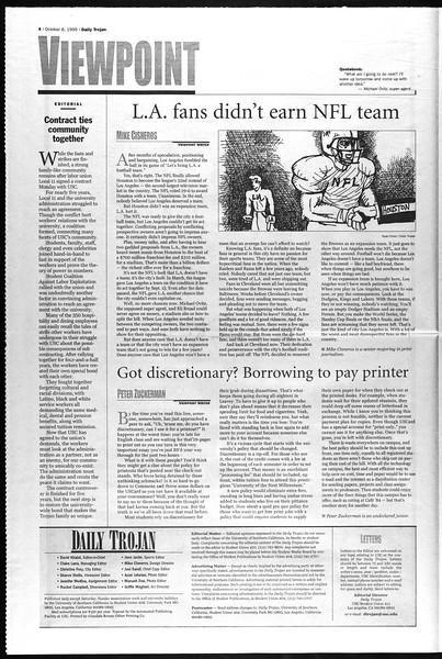 Daily Trojan, Vol. 138, No. 28, October 08, 1999