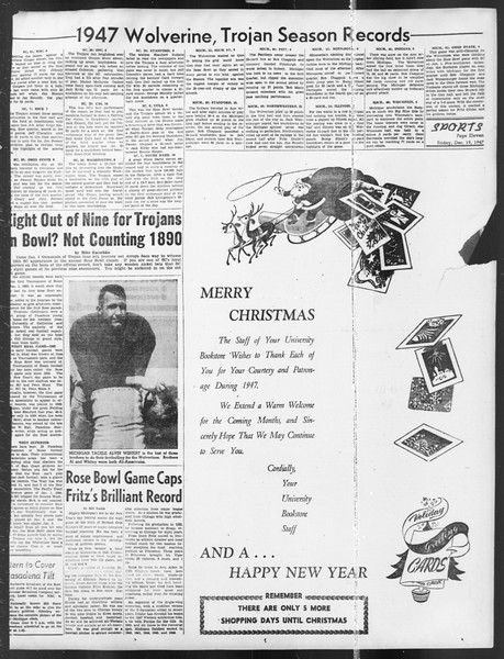 Daily Trojan, Vol. 39, No. 67, December 19, 1947