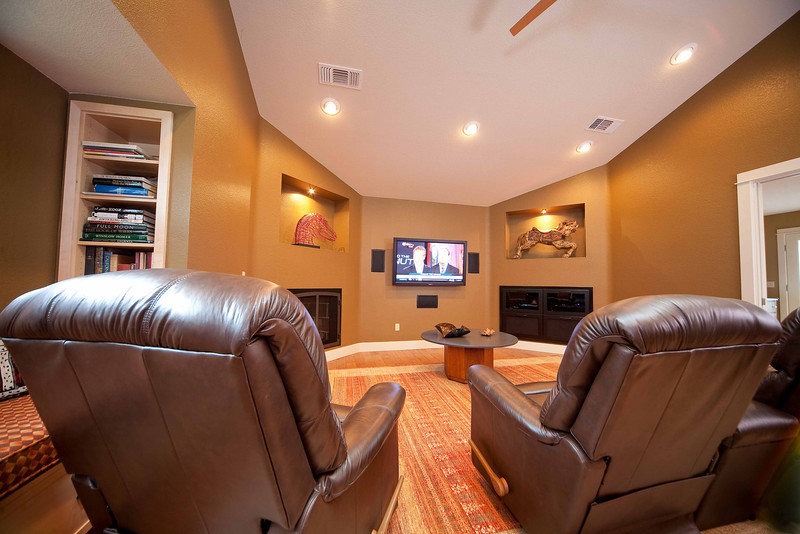 Browns Valley, garage converted into entertainment room
