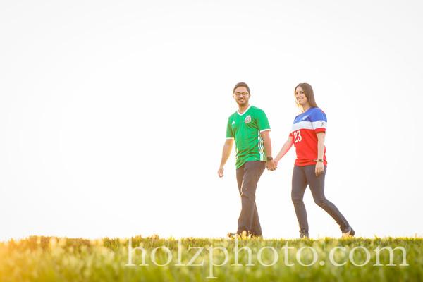 Jennifer & Ramiro Color Engagement Photos