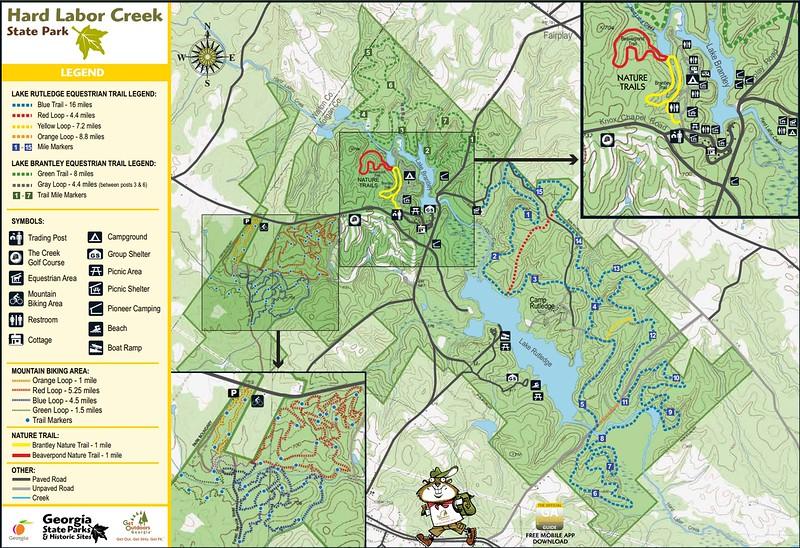 Hard Labor Creek State Park (Trail Map)
