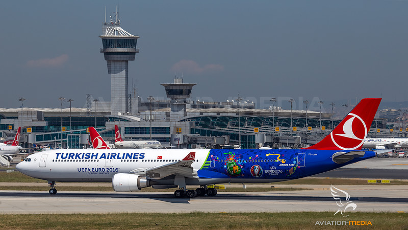Turkish Airlines Airbus A330-300 TC-JOH UEFA Euro 2016 livery