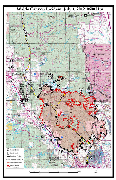 Waldo Canyon Fire El Paso County, Colorado USA Day 11 News July 3, 2012