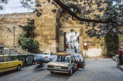 Stadtmauer in der Altstadt, Juderia, Cordobas