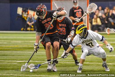 2-14-14 Michigan Men's Lacrosse Vs Mercer