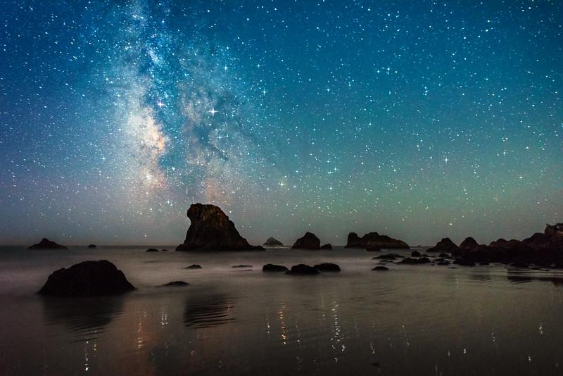 Brookings Beach & Milky Way, Brookings, OR