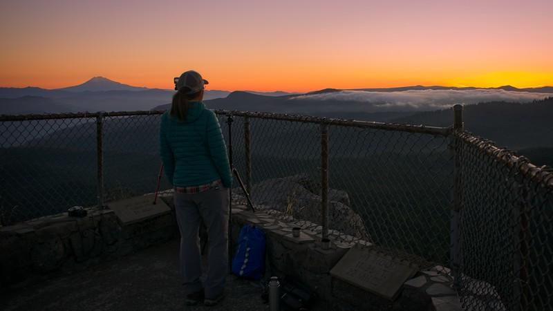 Sunrise on Larch Mt.