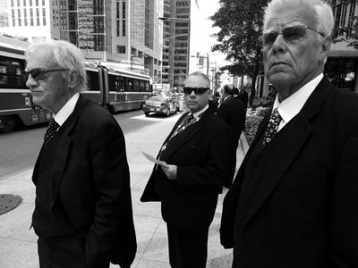 Locked Out Funeral Home Workers picket Toronto Stock Exchange