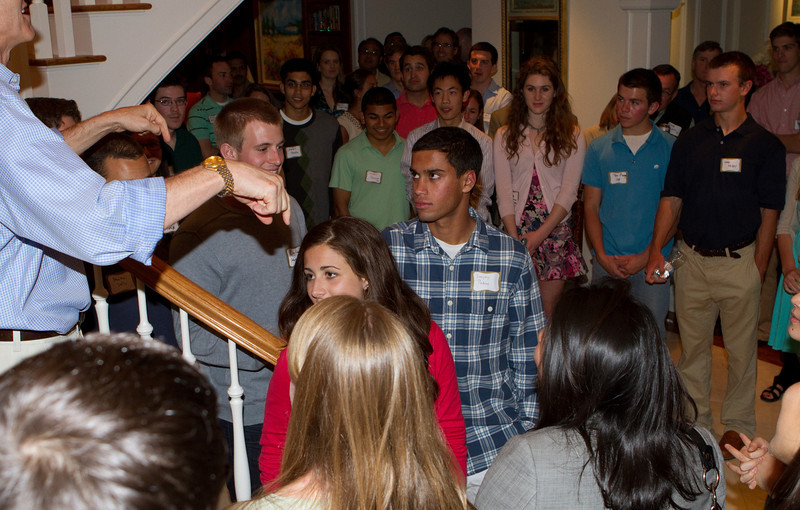 Students stated their name, school, and one thing that attracted them to Dartmouth.