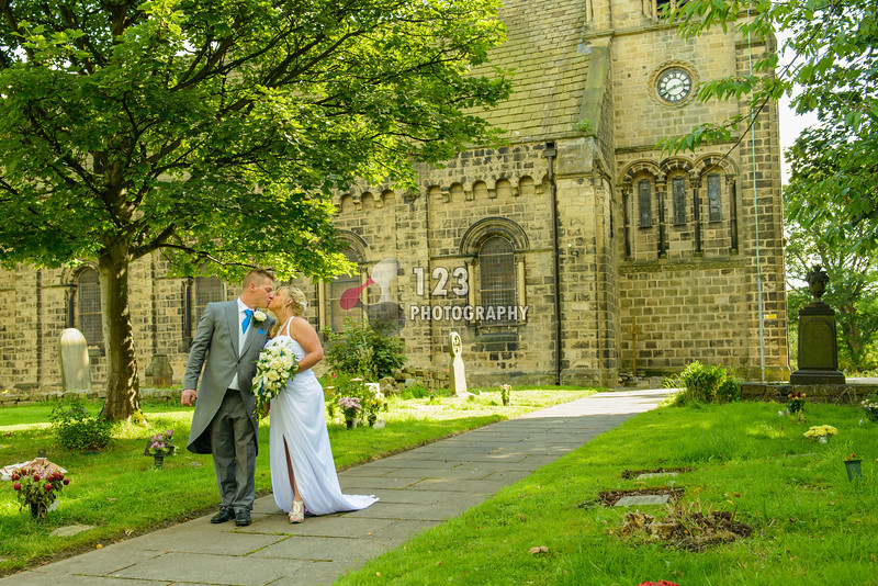 Sharon and Tony's wedding photography St. Thomas Church, Pudsey, Leeds