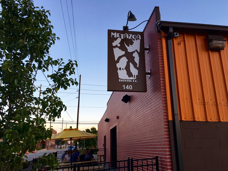 the exterior of Metazoa Brewing Co.