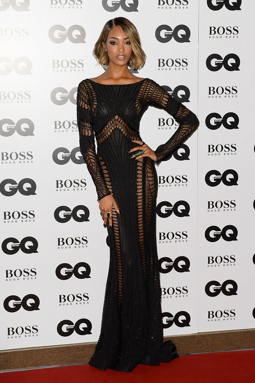 . British model Jourdan Dunn arrives for the GQ Men Of The Year Awards 2014 at a central London venue, London, Tuesday, Sept. 2, 2014. (Photo by Jonathan Short/Invision/AP)