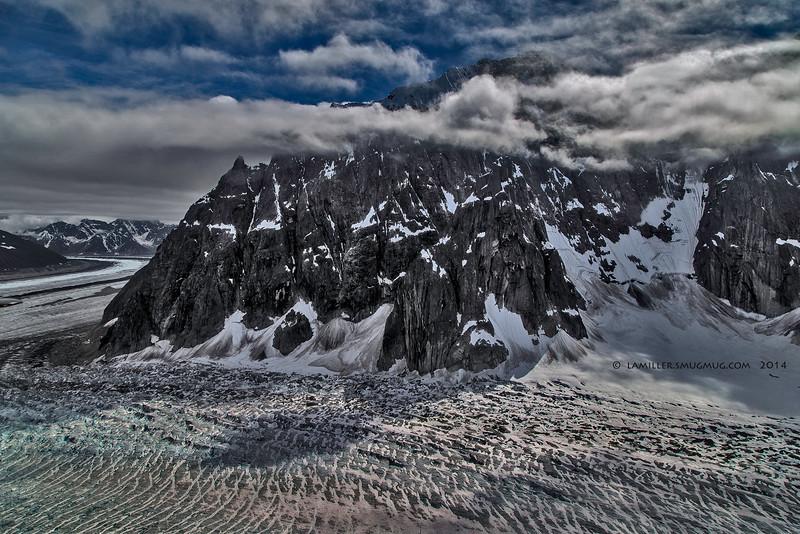 Along the Ruth Glacier - at Church Mt. -  Denali NP