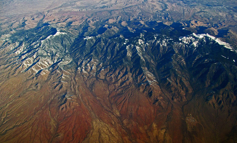 The Pinaleño Mountains and Mt Graham in southeastern Arizona.