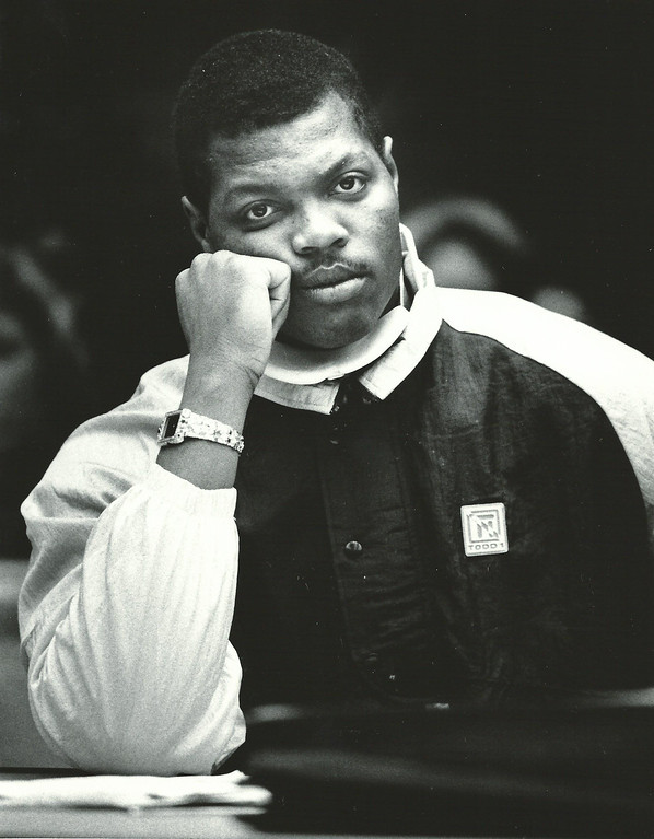 . Former Detroit Lions player Reggie Rogers in court December 1988. The Oakland Press/file photo