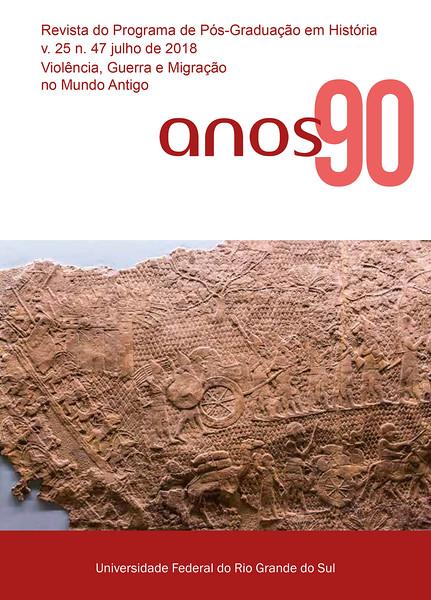 """Capa do periódico de História """"Anos 90"""""""