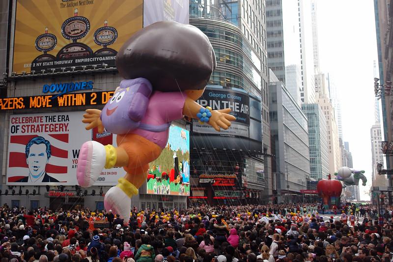 DORA THE EXPLORER Macy's Thanksgiving Parade 2009 in Manhattan